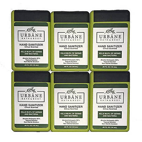 Urbane Urbane Travel Hand Sanitizer, 6 Pack, 29394
