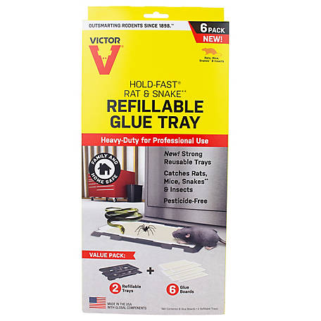 Victor Hold-Fast Rat Refillable Glue Traps, M776
