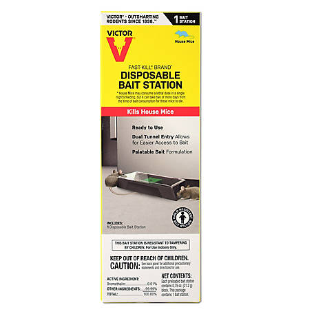 Victor Fast-Kill Brand Disposable Mouse Poison Bait Station, M913