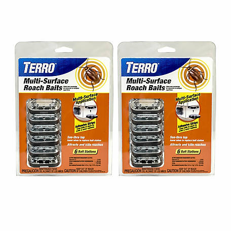 Terro Multi-Surface Roach Baits, 2-Pack, T500SR