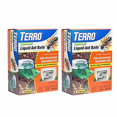Terro Outdoor Liquid Ant Baits, 12 Traps, Pack of 2, T1806SR