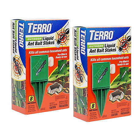 Terro Outdoor Liquid Ant Bait Stakes, 2 Pack, T1812SR