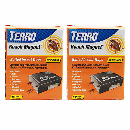 Terro Roach Magnet Trap with Exclusive Pheromone Technology, 24 Traps, 2 Pack, T256SR