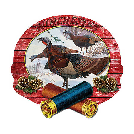 River's Edge Products 15 in. x 14 in. Winchester Turkey Wood Sign