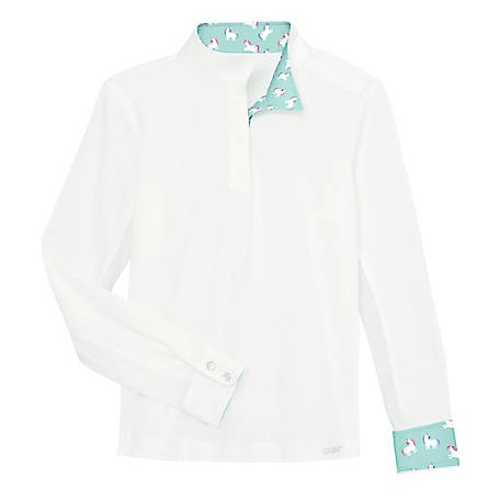 Dover Saddlery Girls' Coolblast Long Sleeve Show Shirt