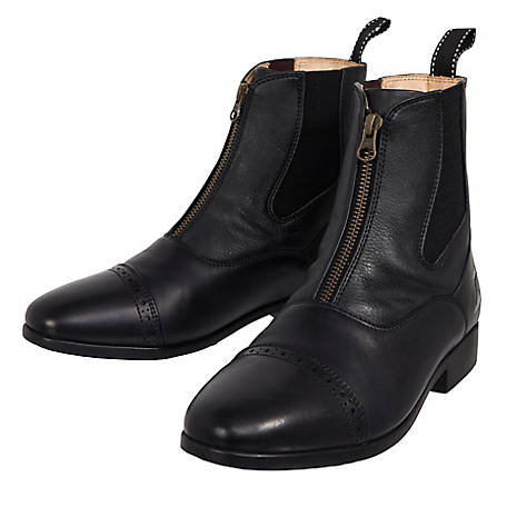 Riding Sport Women's by Dover Saddlery Ladies' Essential Leather Zip Paddock Boots