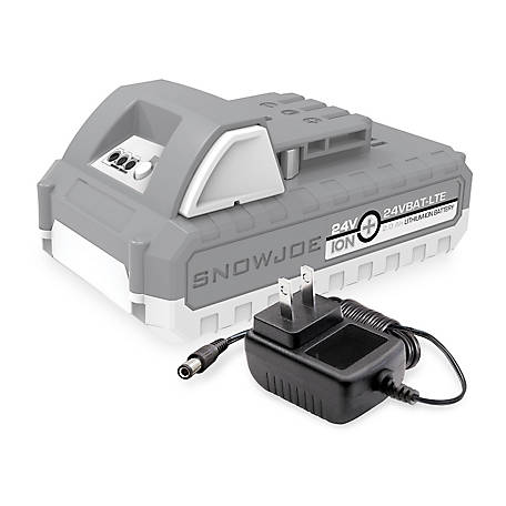 Snow Joe 24-Volt iON+ Starter Kit with 2.0-Ah Battery and Charger, 24V-2AMP-SK1