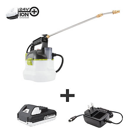 Sun Joe 24-Volt iON+ Multi-Purpose Chemical Sprayer Kit with 1.3-Ah Battery and Charger, 24V-GS-LTW