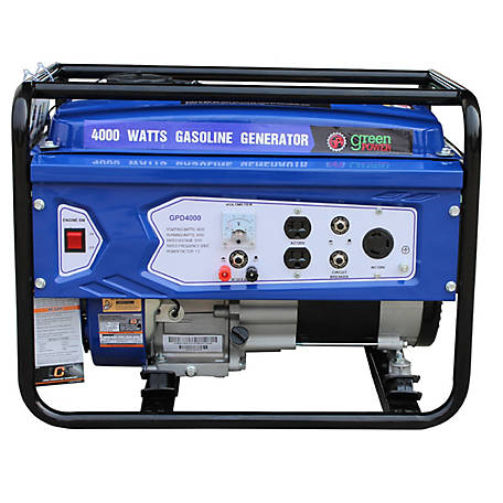 Green-Power America 4000 Watt Gas Powered Portable Generator, GPD4000