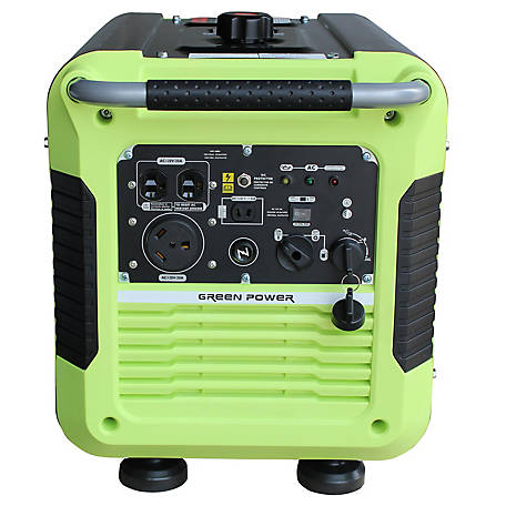 Green-Power America 3500W Gas Powered Inverter Generator, GPG3500IE
