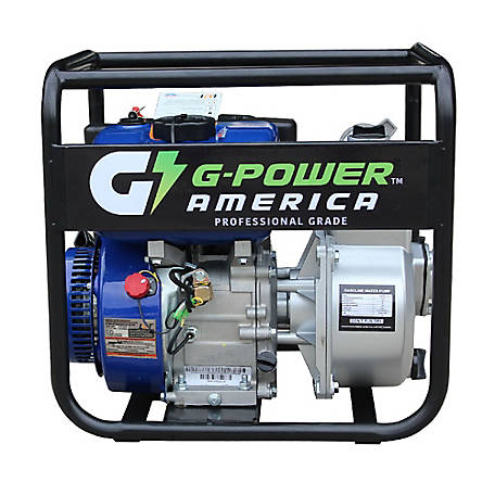 Green-Power America 2-Inch Centrifugal Semi-Water/Trash Pump with 208cc, Commerical Grade Engine and 117.3 GPM Capacity, GNP20C