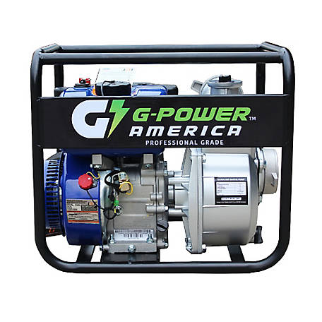 Green-Power America 3 in. Centrifugal Semi-Water/Trash Pump with 208cc, Commerical Grade Engine and 227.3 GPM Capacity, GNP30C