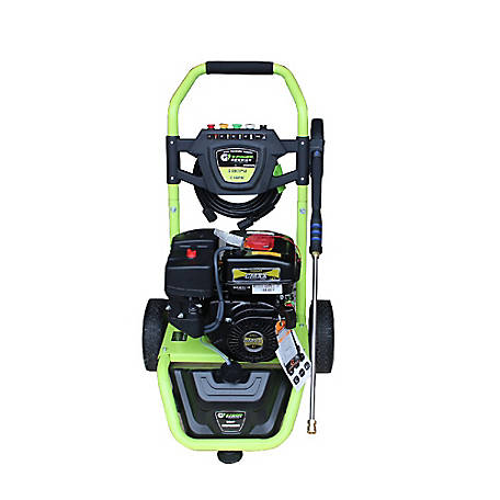 Green-Power America 3300 PSI 2.4 GPM with 208cc Gas Powered LCT Professional Engine Dolly Style Pressure Washer, GNW3324A