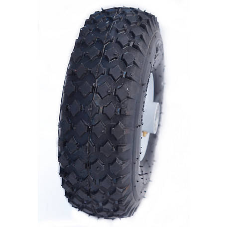 Hi-Run CT1010 Wheelbarrow Tire Assembly 4.10/3.50-4 4PR Stud Tire and Wheel, CT1010