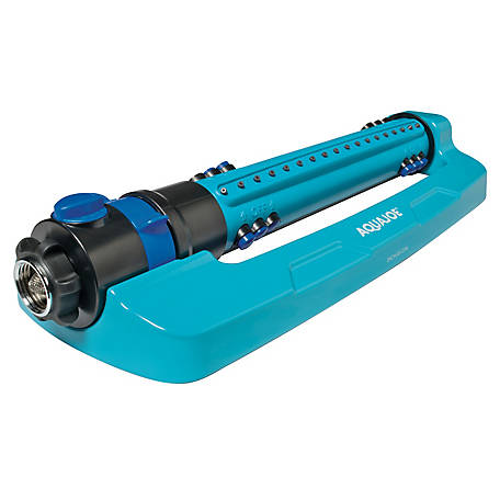 Aqua Joe Indestructible Metal Base Oscillating Sprinkler, Customizable Coverage, 4500 sq. ft. Max Coverage, AJ-OMS18-TRB