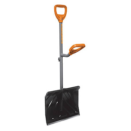 Ergiesystems Steel Shaft Impact Resistant Snow Shovel, 18 in. Shovel, 48 in. Shaft, Push/Scoop Combination Blade, ERG-SNSH18