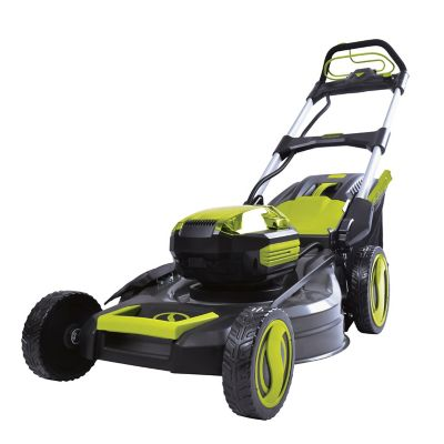 Sun Joe 100-Volt iONPRO Cordless Self Propelled Lawn Mower Kit, 21 in. with 5.0-Ah Battery and Charger, ION100V-21LM