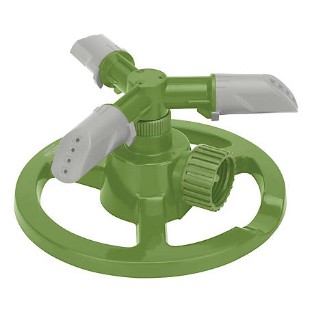 Martha Stewart 3-Arm Rotating Sprinkler with High-Impact-Resistant Circle Base, MTS-CRSPR3