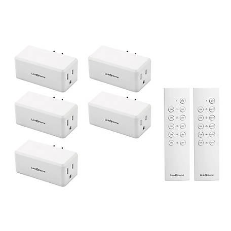 Link2Home Wireless Remote Control Outlet Light Switch, 100 ft. range, Unlimited Connections, Compact Side Plug, EM-1001