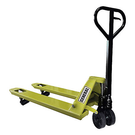 General International 4400 lb. X1 Series Leak Proof Welded Pump 3mm Steel Body 2.5mm Forks, Standard Pallet Jack - 51-061