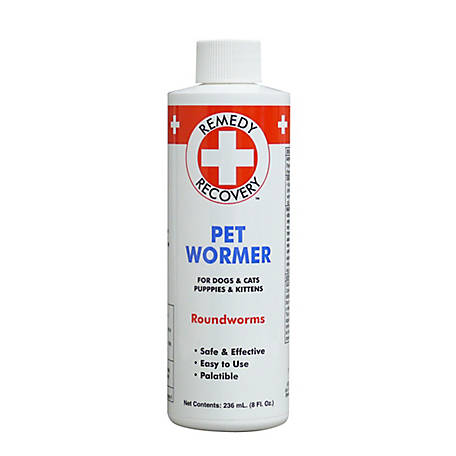 Remedy+Recovery Liquid Wormer for Removal of Roundworm, 8 oz., 43608