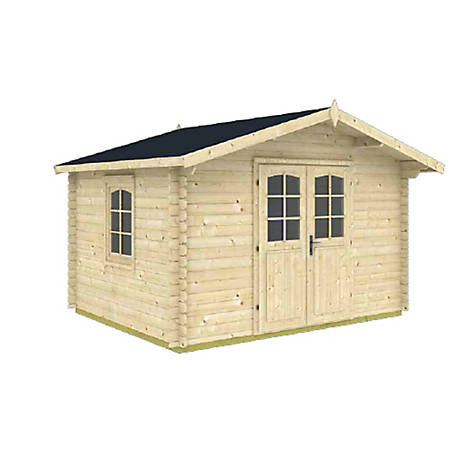 Hud-1 EZ Buildings Milled Log DIY Style Building Kit, ALABAMA