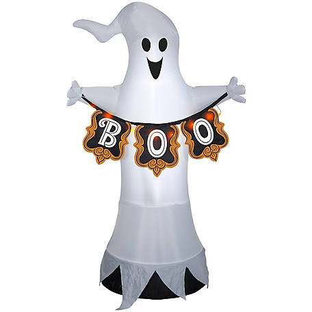 Gemmy Display for Airblown Ghost with Boo Banner