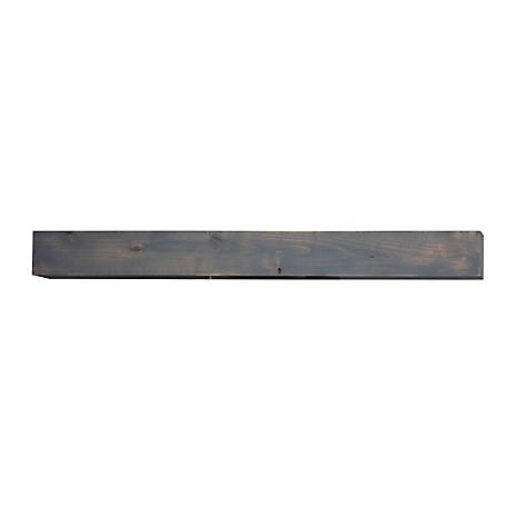 Bjorn Woodworks Driftwood Wood Mantel Shelf, MANDW72