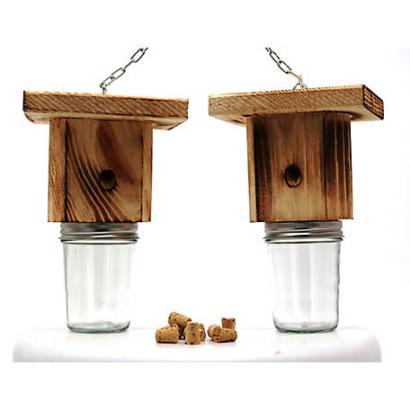 Mac's Rustic Wood Crpntr Bee Trap, Set of 2, PLBT200