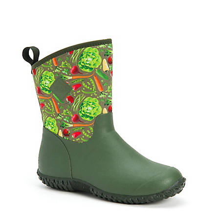 Muck Boot Company Women's Muckster II Mid Boot, Green Vegetable Print
