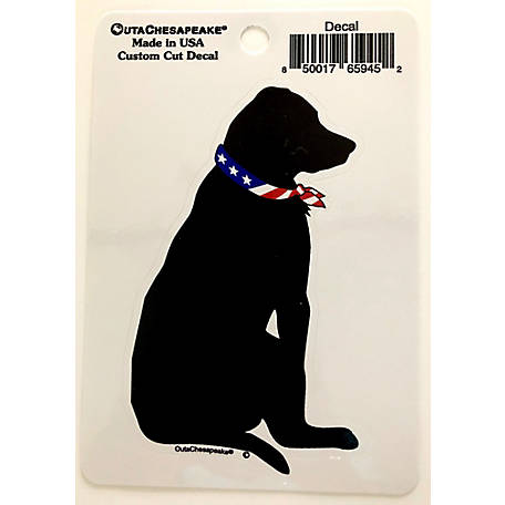 Outa Chesapeake 5 in. USA Black Dog Decal, TOCUSDDC5