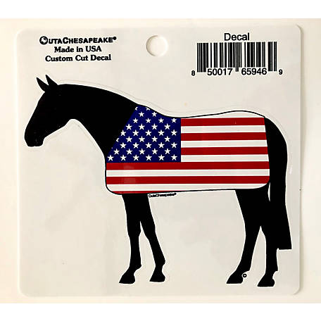 Outa Chesapeake 5 in. USA Horse Decal, TOCUSHBDC5