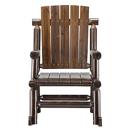 Red Shed Stained Log Rocker Ds001 At, Red Shed Furniture Tractor Supply
