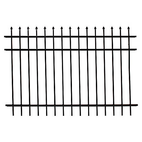 Fortress Athens Pressed Spear 6 ft. W x 4 ft. H Aluminum Fence Panel, 413487143M