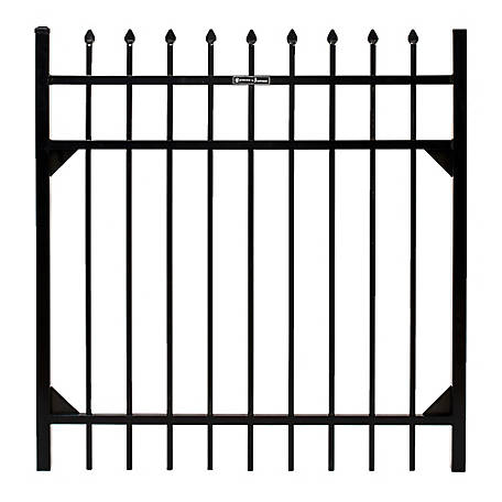 Fortress Athens Pressed Spear 4 ft. W x 4 ft. H Aluminum Gate, 413480443M
