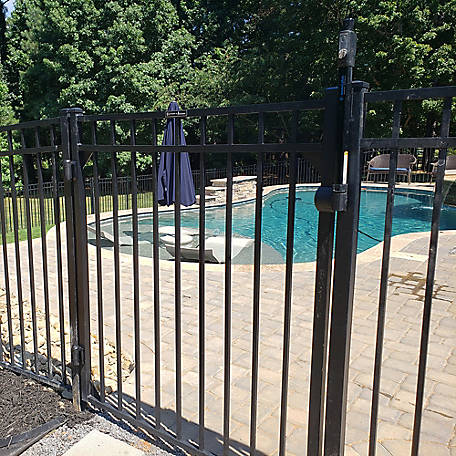 Fortress Athens Three-Rail 48 in. Wide Aluminum Gate, 413480444M