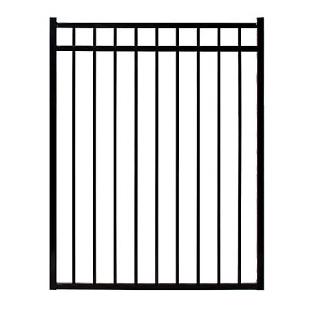 Fortress Versai Three-Rail 4 ft. W x 4.5 ft. H Steel Gate, 713540444