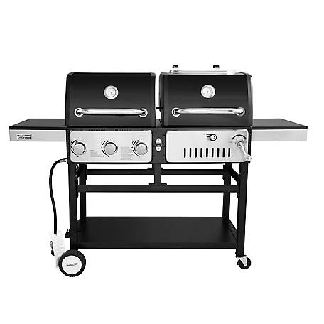 Royal Gourmet Liquid Propane 3-Burner 27000-BTU Gas and Charcoal Grill Combo, ZH3003