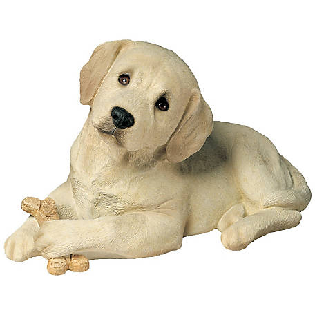 Sandicast Life Size Yellow Labrador Retriever Pup Dog Sculpture