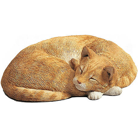 Sandicast Life Size Orange Cat Sculpture