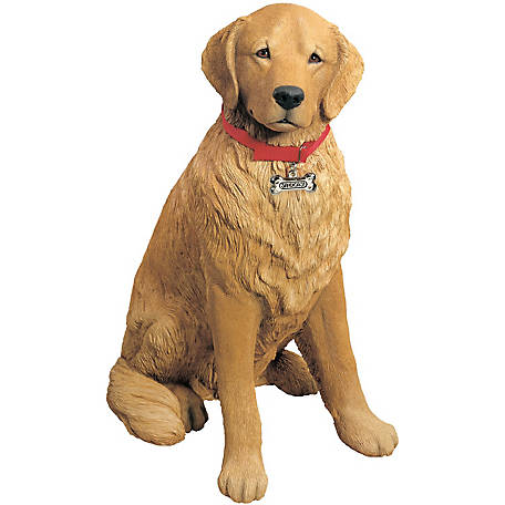 Sandicast Life Size Large Golden Retriever Dog Sculpture