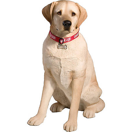 Sandicast Life Size Large Yellow Labrador Retriever Dog Sculpture