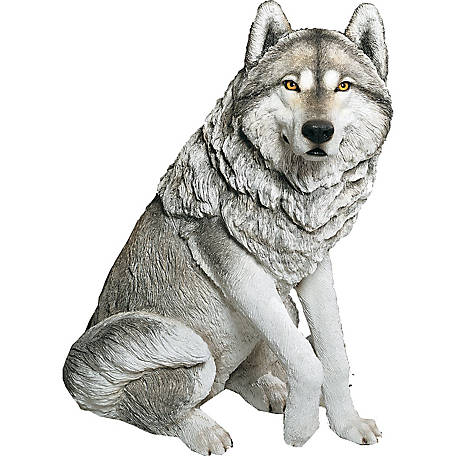 Sandicast Life Size Large Gray Wolf Sculpture