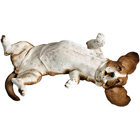 Sandicast Mid Size Basset Hound Dog Sculpture