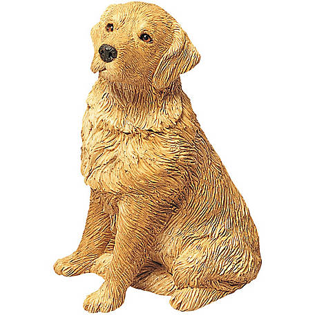 Sandicast Mid Size Golden Retriever Dog Sculpture