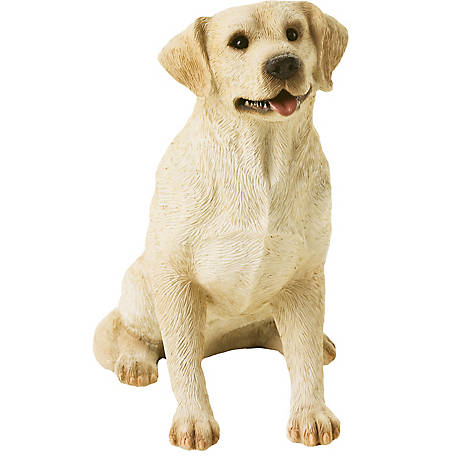 Sandicast Mid Size Yellow Labrador Retriever Dog Sculpture