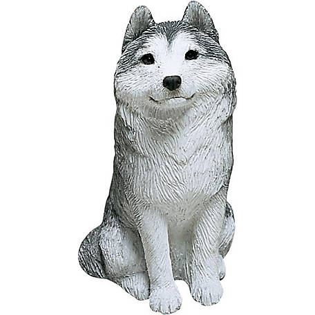 Sandicast Mid Size Gray Siberian Husky Dog Sculpture