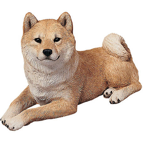 Sandicast Original Size Red Shiba Inu Dog Sculpture