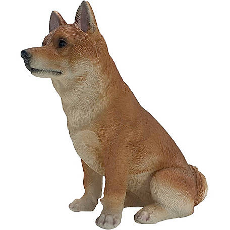Sandicast Original Size Fawn Shiba Inu Dog Sculpture