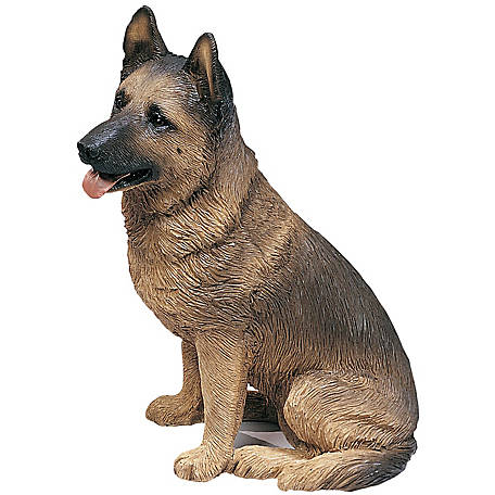 Sandicast Original Size German Shepherd Dog Sculpture